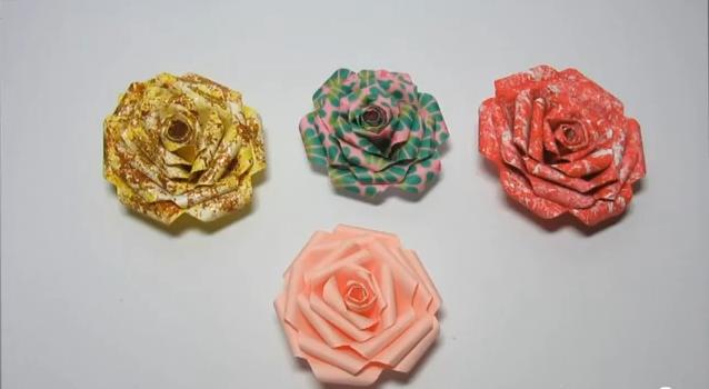como hacer una rosa de papel manualidades - Como Hacer Rosas De Papel