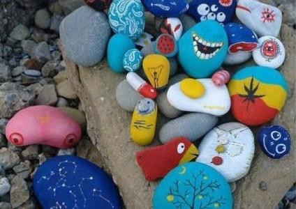 Pintar piedras for Como pintar imitacion piedra