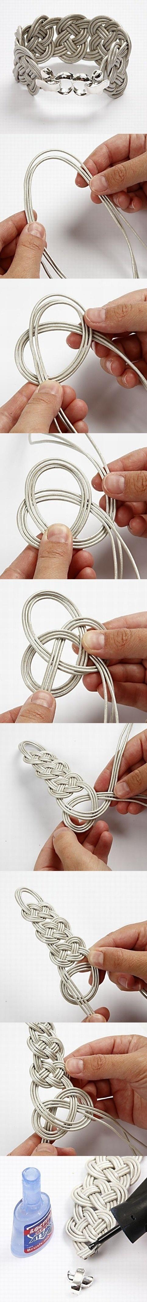 Pulsera cordón de cuero
