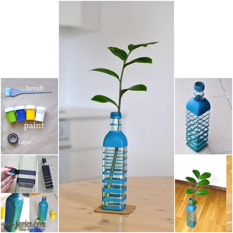 Convertir una botella en un florero - Que hacer con botellas de vidrio ...