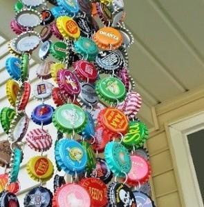 Campana de viento reciclada