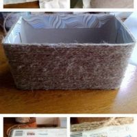 cesta con caja de carton