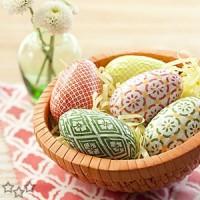 Huevos decorados de Pascua