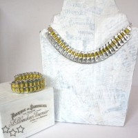 Conjunto de pulsera y collar de anillas de latas