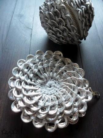 Monedero con anillas de latas
