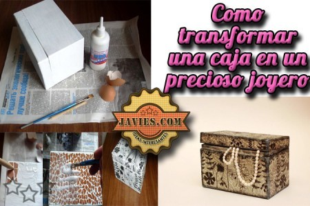 Caja con mosaico con cascara de huevo car interior design - Caja de huevo ...