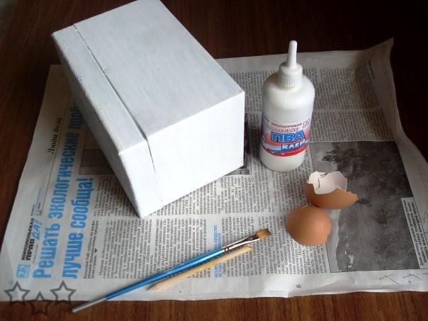 Joyero reciclado con cascara de huevo