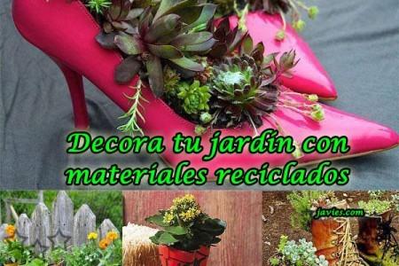 Decoraci n for Jardin con reciclados
