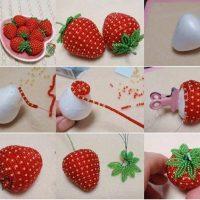 Fresas con abalorios