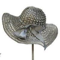 sombrero mujer anillas de latas