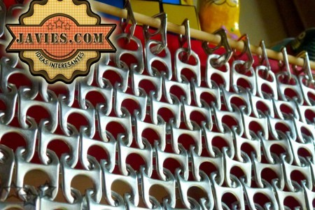 Cortina con anillas de latas de refresco - Anillas de cortinas ...