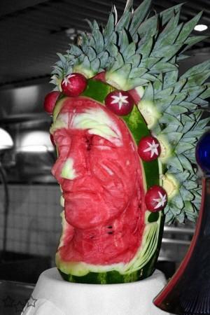 Escultura con sandia 32