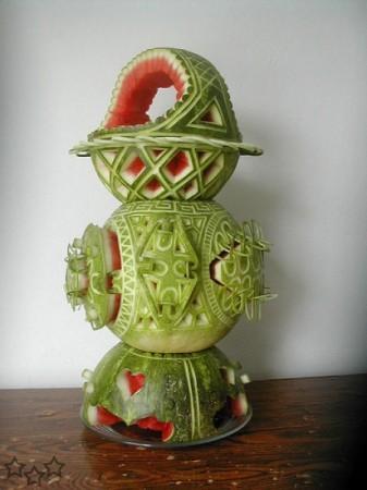 Escultura con sandia 7