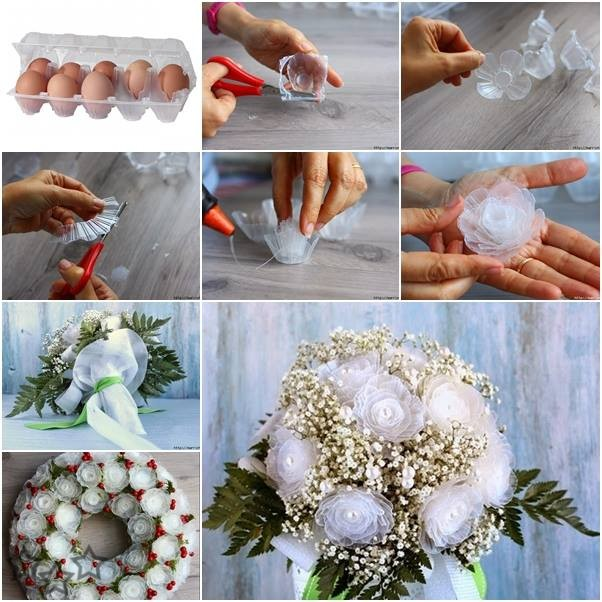 Reciclar cajas de huevos de plastico