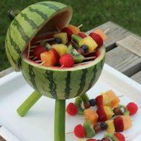 Barbacoa con frutas