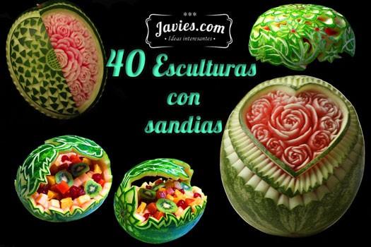 40 esculturas con sandias
