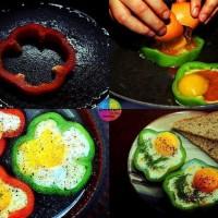 Huevos fritos con pimiento