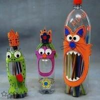 manualidades con botellas de plastico 1
