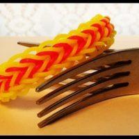 Pulsera de gomitas tecnica con dos tenedores