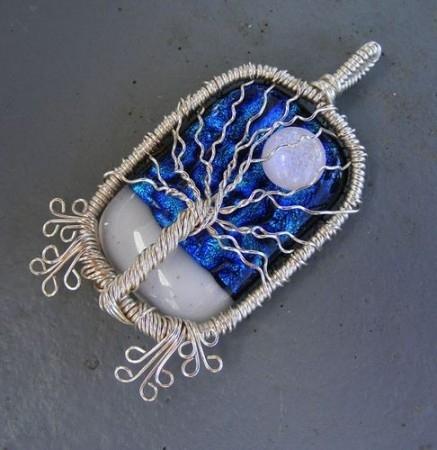 bisutería con alambre y piedras semipreciosas 5