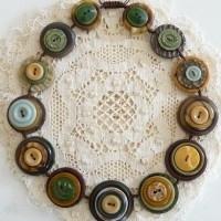 bisuteria con botones - collar