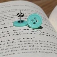 bisuteria con botones - pendientes 1