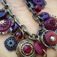 collar con botones vintage 2
