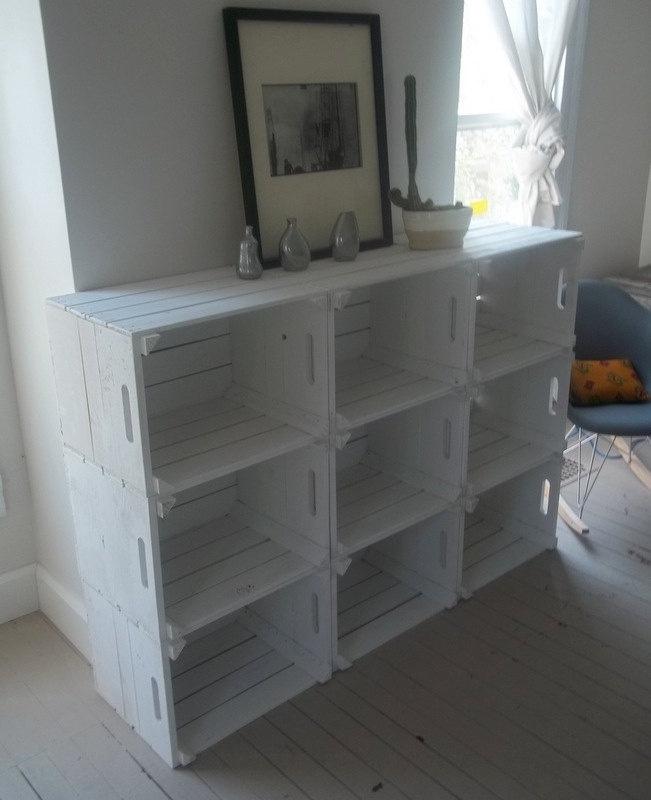 Estanteria reciclada con cajas de madera - Caisse en bois leroy merlin ...