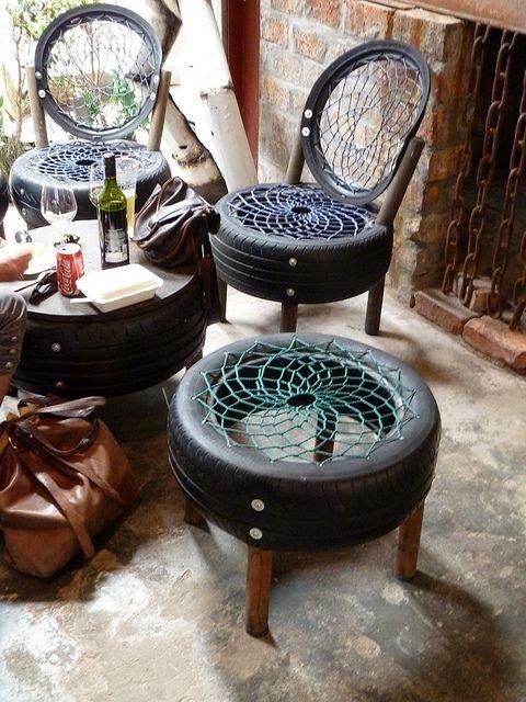 Muebles con materiales reciclados Javiescom
