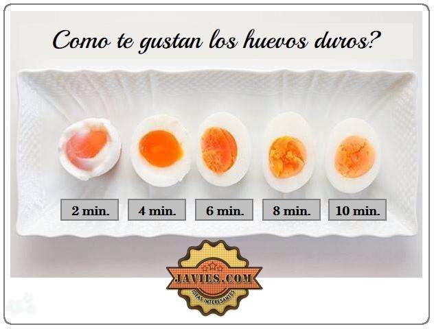 tiempo huevos duros