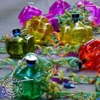 Faroles con botellas de plástico