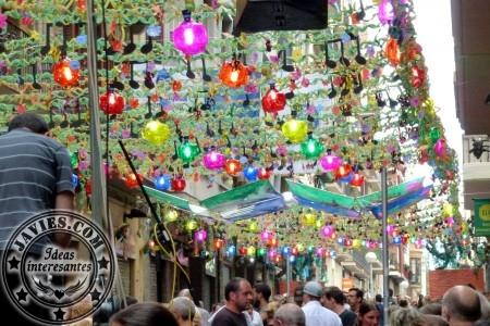 La fiesta del reciclaje – Fiesta mayor del Barrio de Gràcia 2014