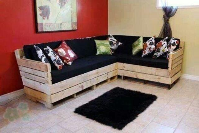 Reciclar los palets  sofás con palets