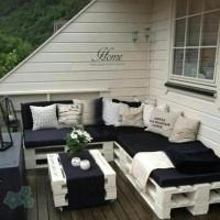 Reciclar los palets - sofás con palets