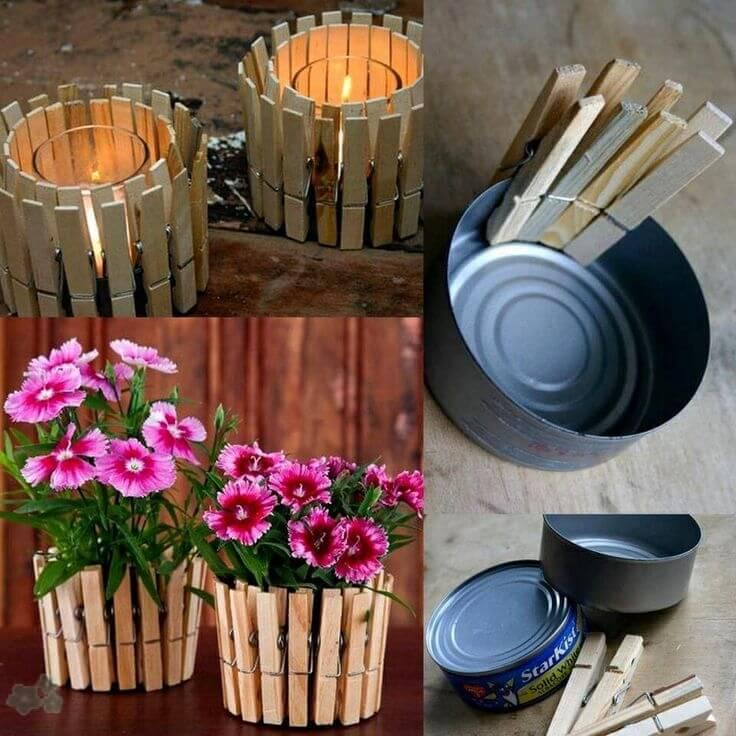 Manualidades con pinzas de madera 7 for Manualidades para jardin