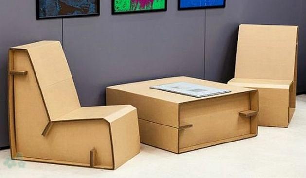 Muebles reciclados de carton 17 - Decoracion reciclaje muebles ...