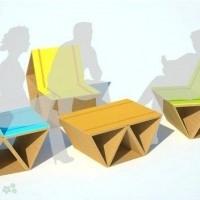 muebles reciclados de carton 23