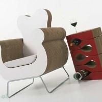 muebles reciclados de carton 5