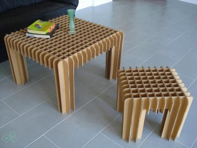 Muebles reciclados de carton 6 for Reciclado de muebles