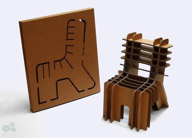 Muebles reciclados de carton 7 for Carton para muebles