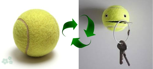 manualidades con pelotas de tenis