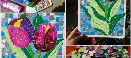cuadros con botellas de plástico