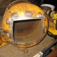 Estufa con bombona de gas