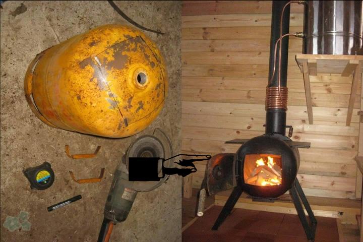 Transformar una bombona de gas en una estufa - Estufa de bombona ...
